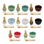 Matcha Bowl Set (Includes Bowl, Rest,Tea Whisk, Chasaku, & Tea Spoon)