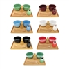 Matcha Bowl Set (Includes 2 Bowls, Tea Whisk, Rest, Large Tray, 2 Teaspoons and Chasaku)