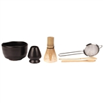 Bamboo Matcha Tea Whisk Strainer Set