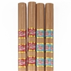 "BambooMN 9.5"" Carbonized - Floral Print with Gold Stripes Bamboo Chopsticks Premium Grade"