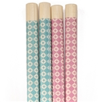 "9.5"" Diamond Checkered Bamboo Chopsticks Premium Grade"