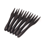 Mini Bamboo Fork - Black - 3.7""