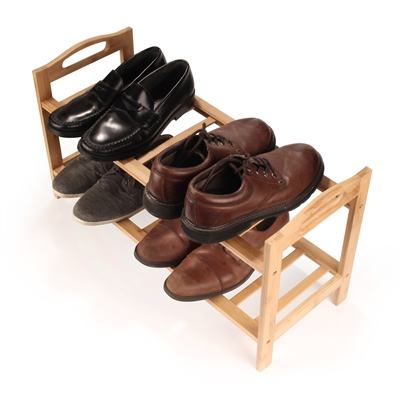 BambooMN Kinson Multi-Tier Bamboo Shoe Rack