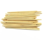 Premium Natural Bamboo Semi Point Candy Apple Sticks Round Skewer, Party Supplies