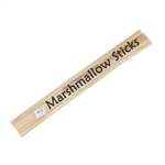 Premium Extra Long Semi Point Round Natural Bamboo Skewer Sticks for Marshmallow, Party Supplies