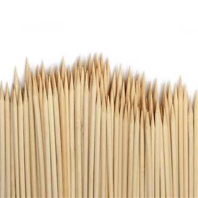 Premium Natural Bamboo Extra Long Short Sharp Point Round Skewers, Party Supplies