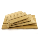 Spa Style Raised Bamboo Bathmat