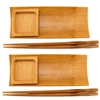 Reusable Bamboo Sushi Serving Tray Set - 2 Sets