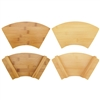 Bamboo Sushi Board Serving Tray, Fan Shape