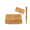 Bamboo Rectangle Sushi Board Tray, Chopsticks and Compartment Sauce Dish, Various Sizes