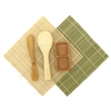 Sushi Rolling Kit - 2x rolling mats, 1x rice paddle, 1x spreader, 1 Compartment Sauce Dish