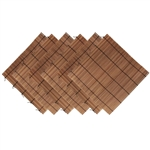 "6 Pieces Carbonized Bamboo Sushi Making Rolling Mats 9.5"" x 9.5"" Plus Rice Paddle"