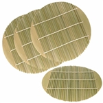 Dia Green Bamboo Steamer liners Kitchen Mat Rack Steamer Pad Inserts