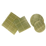 Assorted Bamboo Sushi Making Mats and Bamboo Steamer Liner Pad Inserts