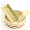 Sushi Oke Tub (Hangiri) with Sushi Making Accessory Pack - 5 pcs/set