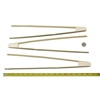 "Large Reusable Bamboo Straight Arm ""A"" Tongs - 17"""
