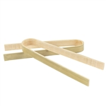 "3.9"" Mini Bamboo Disposable Tongs"