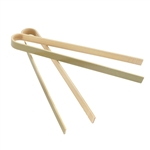 "6.3"" Mini Bamboo Disposable Tongs"