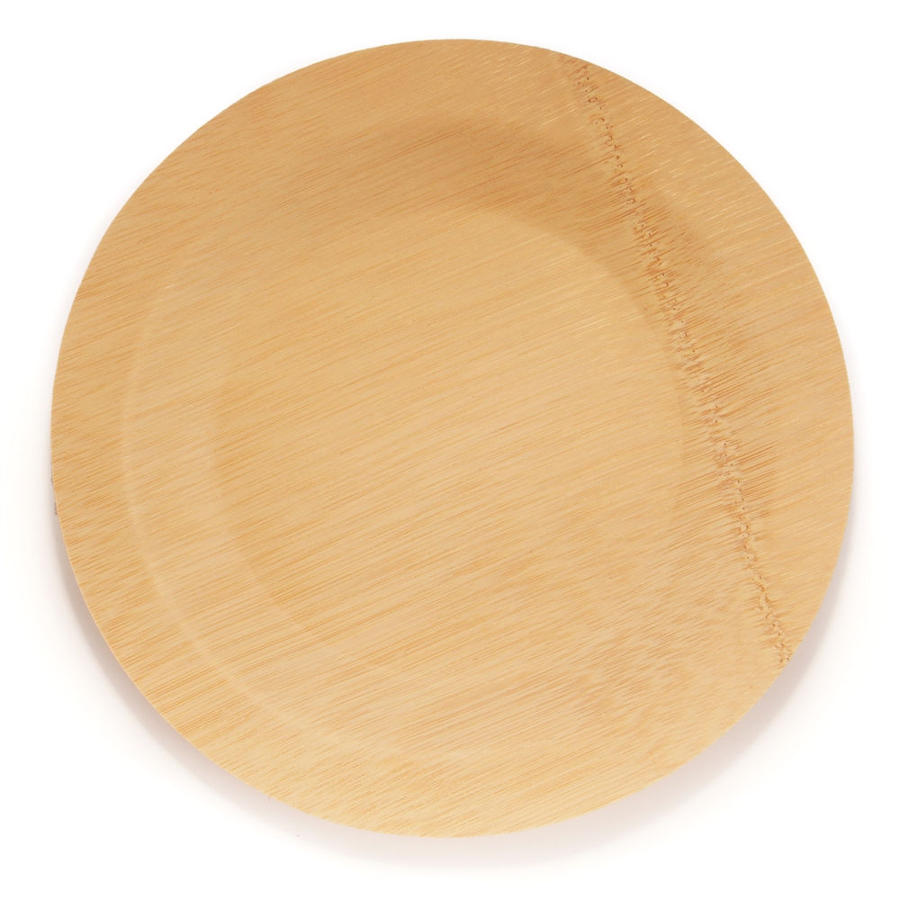 Disposable Bamboo Veneer Larger Photo Email A Friend  sc 1 st  BambooMN & Disposable Bamboo Veneer Plate - Round - BambooMN