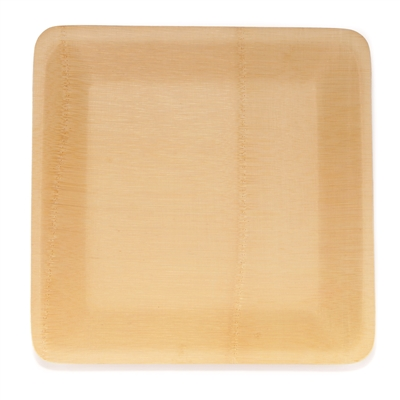 BambooMN Disposable Bamboo Veneer Plate - Square