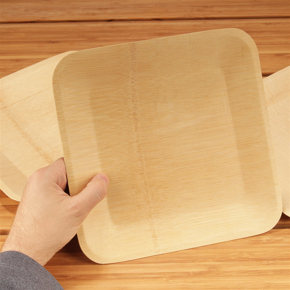 Disposable Bamboo Veneer Plate - Square  sc 1 st  BambooMN.com & Disposable Bamboo Veneer Plate - Square - BambooMN