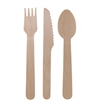 "BambooMN 5.5"" Disposable Wood Flatware"