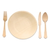BambooMN Party Set Eco-Friendly Pine Dinnerware