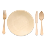 Party Set Eco-Friendly Pine Dinnerware