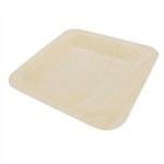 BambooMN Wood Square Plates / Dishes