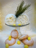 Lemon Drop Cookies -Whipped Sugar Body Scrub with lemon butters.