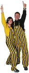 Black & Yellow Adult Striped Game Bib Overalls