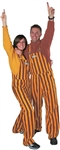 Gold & Maroon Adult Striped Game Bib Overalls