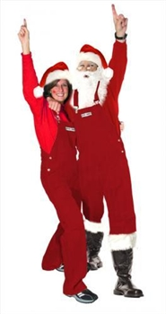 Solid Red Santa Claus Bib Overalls