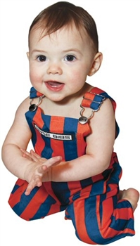 Infant Royal Blue & Orange Game Bib Overalls