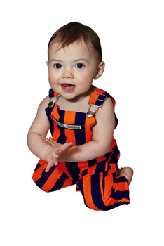 Navy Blue & Orange Infant Game Bibs