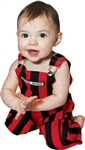 Red & Black Infant Game Bibs