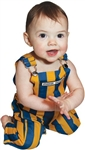 Infant Royal Blue & Yellow Striped Game Bib Overalls
