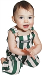 Infant Green & White Game Bib Overalls