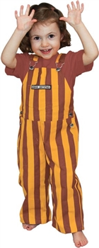 Maroon & Gold Toddler Game Bib Overalls