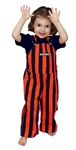 Navy Blue & Orange Toddler Game Bib Overalls