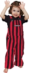 Red & Black Toddler Game Bibs