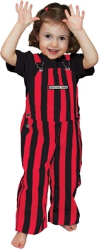 Red & Black Toddler Game Bib Overalls