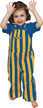 Royal Blue & Yellow Toddler Game Bib Overalls