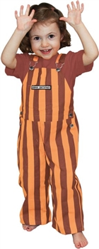 Maroon & Orange Game Bib Toddler Overalls