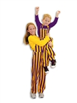 Purple & Yellow Youth Game Bib Overalls