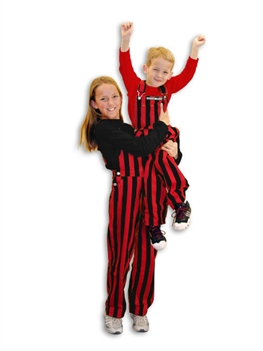 Red & Black Youth Game Bib Overalls