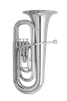 John Packer Eb Tuba - mini 3 valve - silver