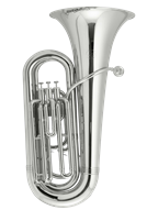 John Packer New improved model Bb Tuba - mini 3 valve - silver plated