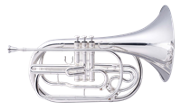 Marching French Horn - silver with ABS Case