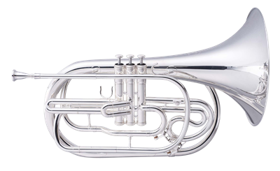 John Packer Marching French Horn - silver with ABS Case